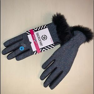 Isotoner gloves with touchscreen technology.